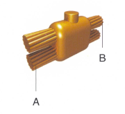 电缆与电缆连接接地线夹(适用于铜包钢圆线)